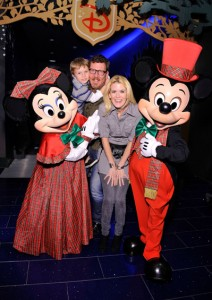 Alex McCord with family Mickey and Minnie