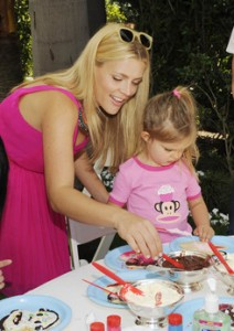 Busy Philipps and daughter Birdie at cookie decorating station