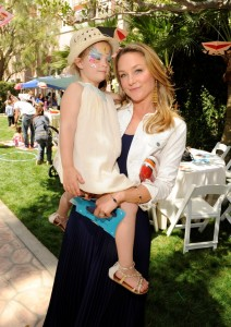 Elisabeth Rohm Carrying Her Daughter