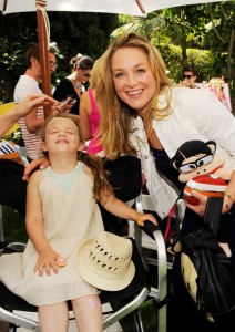 Elisabeth Rohm and Daughter Face Painting