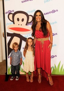 Jillian Barberie and Children Posing