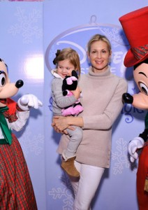 Kelly Rutherford with Mickey and Minnie Mouse
