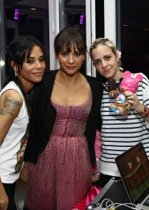 Kidada Jones, Rashida Jones and Samantha Ronson