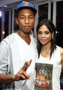 Kidada and Pharrell Williams