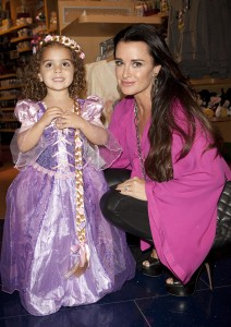 Kyle Richards and Portia dressed as Rapunzel