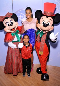  La La Anthony with Kiyan Mickey and Minnie
