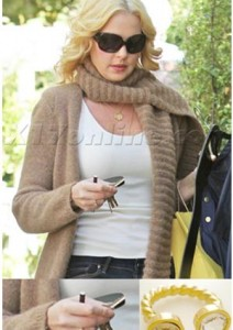 October 7, 2010 - Katherine Heigl- Twisted Horseshoe ring