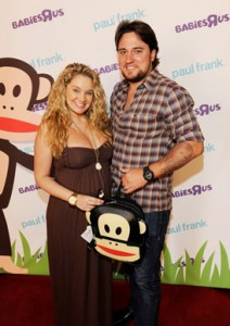 Tiffany Thornton and Husband Posing