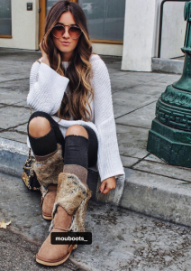 Blogger Hunt for Styles in Mou boots